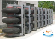 Black Marine Safety Equipment , Wheel Roller Marine Rubber Fender
