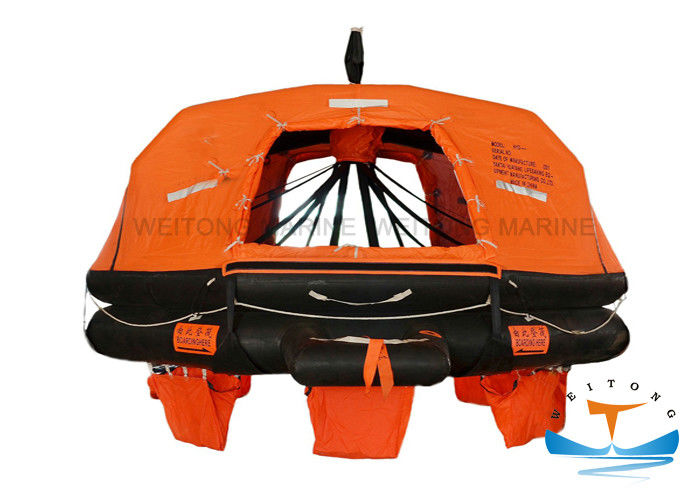 Waterproof Life Rafts For Small Boats , Davit Launched Lifeboat Regular Decagon