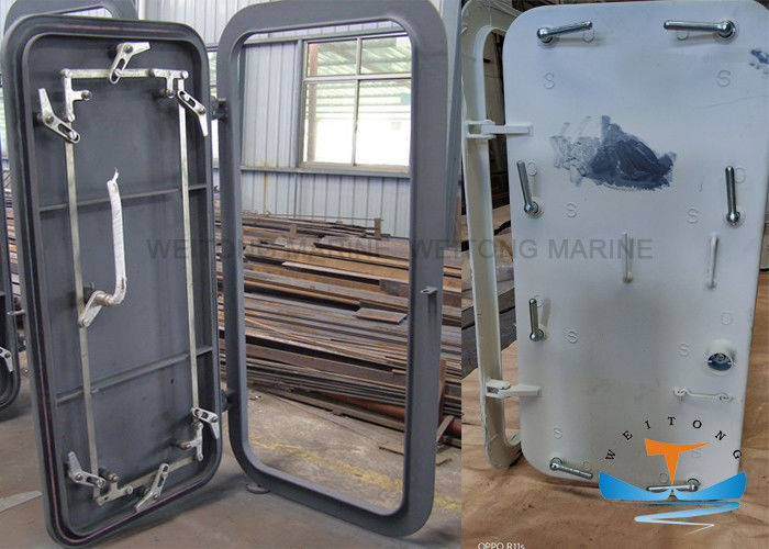 Steel Q235 Marine Watertight Doors OEM ODM Service Natural Finish Available