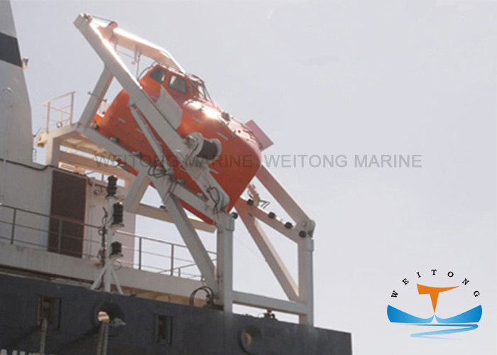 High Speed Slewing Arm Davit , Rescue Boat Davit Crane For Free Fall Lifeboat