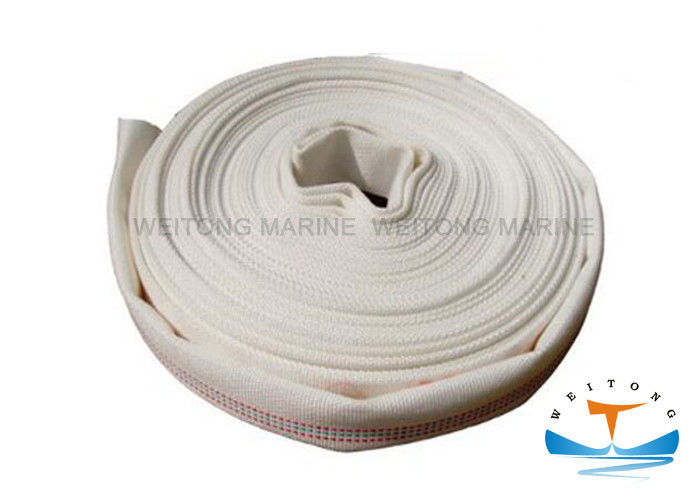 PU Single Jacket Fire Hose , High Pressure Marine Fire Hose GB6246 Standard